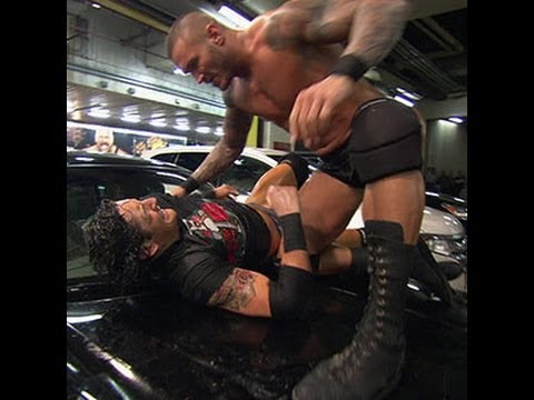 0 Friday Night SmackDown   Randy Orton RKOs Wade Barrett onto the roof of a car