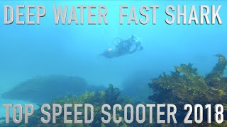 (SUPER FAST) UNDERWATER SCOOTER  the WHITE SHARK MIX (SEARCH for GREAT WHITE SHARKS)