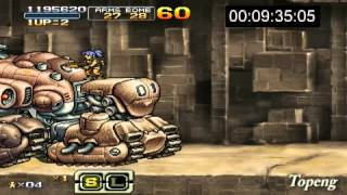 [psp]Metal Slug XX HARD Speed run Leona
