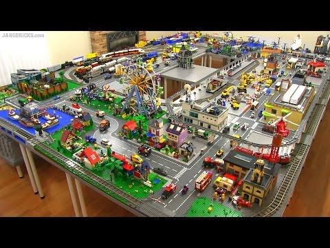 LEGO city walkthrough Summer 2015! A 245 sq. ft. layout!
