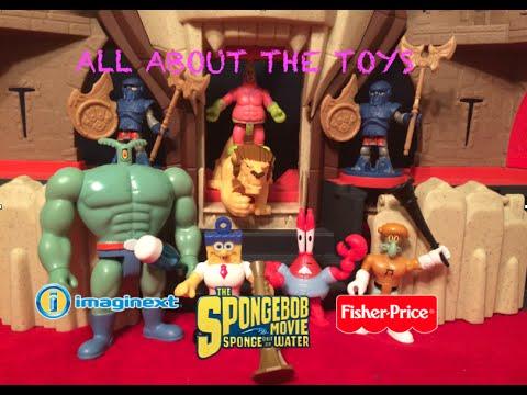 sponge out of water- The Spongebob movie/Imaginext- Bob Esponja Un Héroe Fuera del Agua