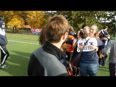 Key post-game celebration Key/St. Timothy's field hockey IAAM C finals 10/24/15
