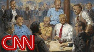 Artist's hidden message in Trump painting