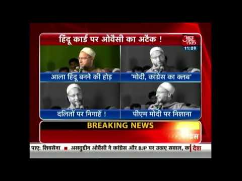Asaduddin Owaisi Slams BJP-Congress Over Religion War