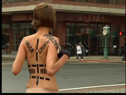 Woman Strips Down For Animal Rights video