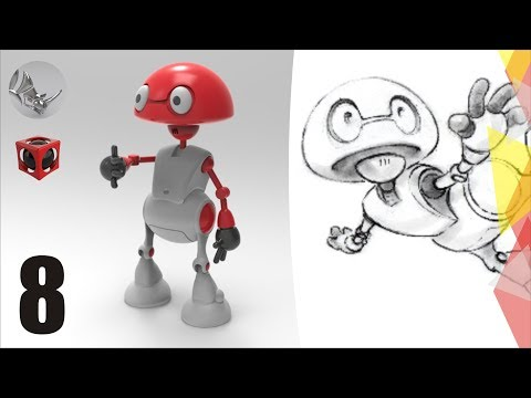 Tutorial Rhino 3D | Modelar un Robot en Rhino (8/15)
