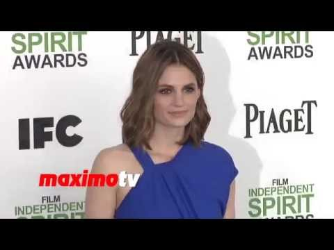Stana Katic Sexy In Blue  Film Independent Spirit Awards video