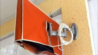 How to install Waterproof Outdoor TV Cover Clear Invisible full TV cover