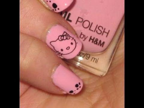 HELLO KITTY Nail Art Design - Hello Kitty körmök
