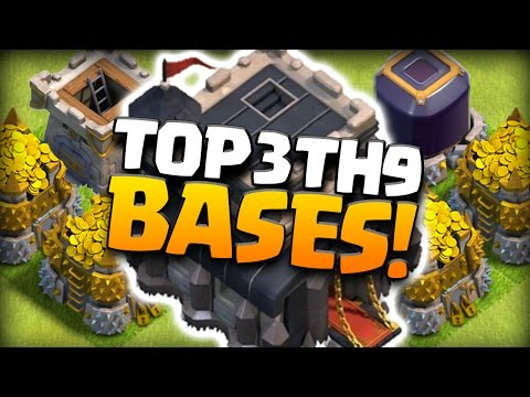 TOP 3 TH9 FARMING BASE 2016! CoC BEST TOWN HALL 9 HYBRID DEFENSE! Clash of Clans (TH9 OCTOBER 2016)