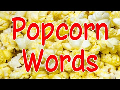 Popcorn Words | Sight Words | Educational Songs | Kids Videos | Youtube For Kids | Jack Hartmann video
