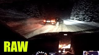 BMW M4 vs Audi RS4 | deep snow drifting | 100% Sound