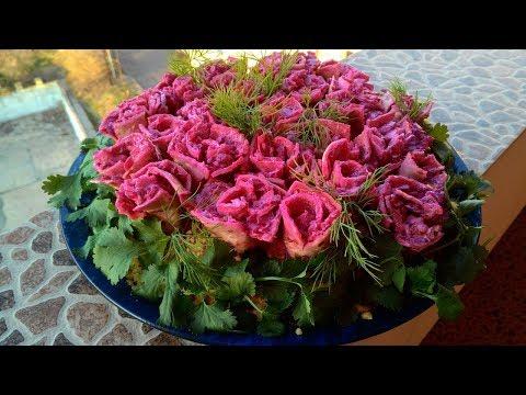 """Праздничный салат """"Букет роз""""/ Holiday salad """"Bouquet of roses"""""""