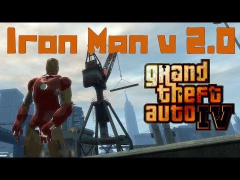 GTA IV. Iron Man v 2.0. Железный человек. Супер скрипт