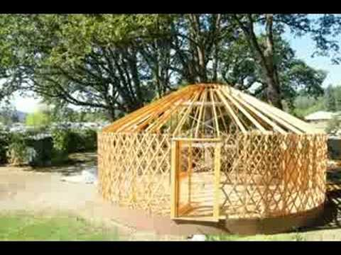 Time Lapse Of A Yurt Build Youtube