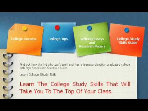 How to Learn The College Study Skills That Will Take You To The Top Of Your Class!