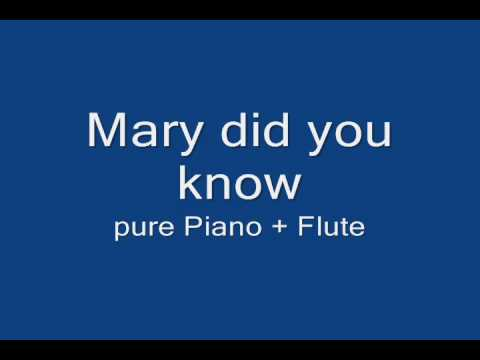 Mary did you know pure piano flute youtube