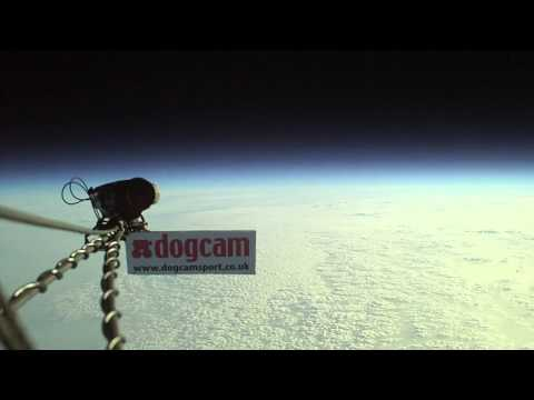 DogCam flies to the edge of space 110,000ft on a balloon!
