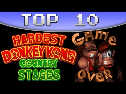 Top 10 Hardest Donkey Kong Country Levels (SNES)