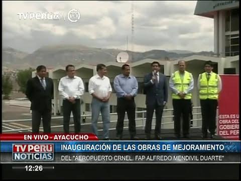 Moderno Aeropuerto de Ayacucho fue Inaugurado por Presidente Humala y Ministro Gallardo