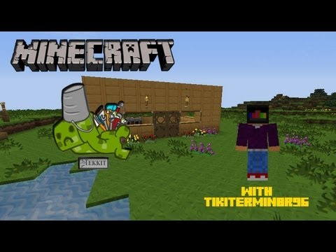 Minecraft Tekkit Multiplayer Survival w/ badboyTJ1996 Ep.6 SLENDERMAN!!! F#$%!!!