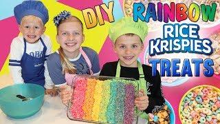 Kid Size Cooking: Rainbow Rice Krispies Treats