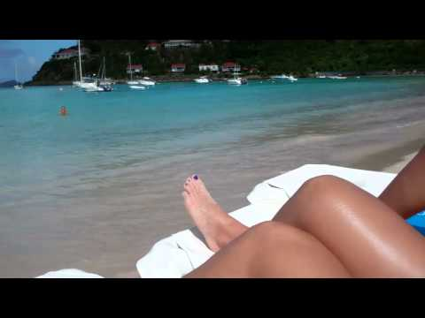 Swimming in St.Barts Nikki Beach