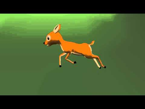 Deer Run Cycle Animation Test YouTube