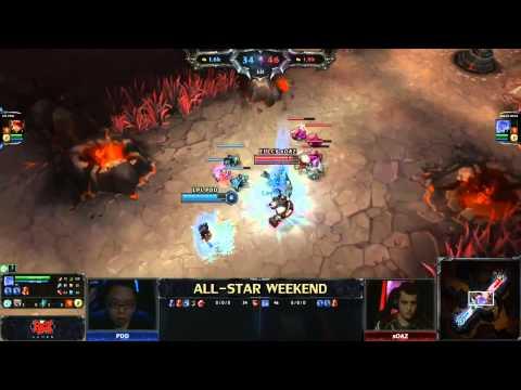 2013 ALL-STAR LoL 1v1 top lanes (PDD) vs (sOAZ) game 1