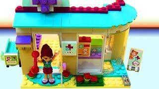 Đồ chơi LEGO Friends | đồ chơi trẻ em | Bệnh Viện Thú  Lắp Ghép Trạm Chữa Bệnh Chó Mèo | Chị Bí Đỏ