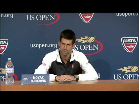 Novak Djokovic Reacts To Start Of US Open Title Defence