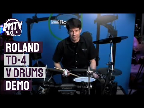 Roland TD 4 V Drums Demo - Nevada Music UK Video