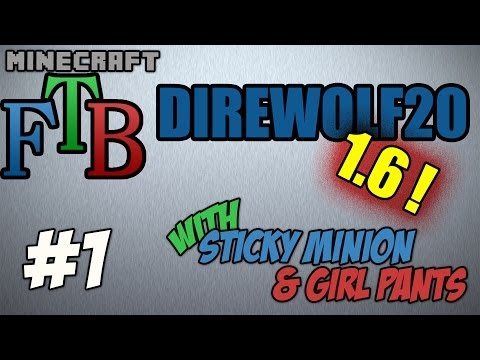 FTB Direwolf20 S02E01 - Thaumometer, 1.6.4, Morph mod, elementals, and a hole in the mountain