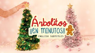DIY ÁRBOLITOS DE NAVIDAD ¡¡EN MINUTOS!! |mini-DIY Navideño|#ChristmasTime | COOKIES IN THE SKY