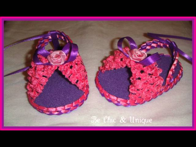 Handmade Baby Girl Sandals (Sandalias hecho a Mano)  1st group