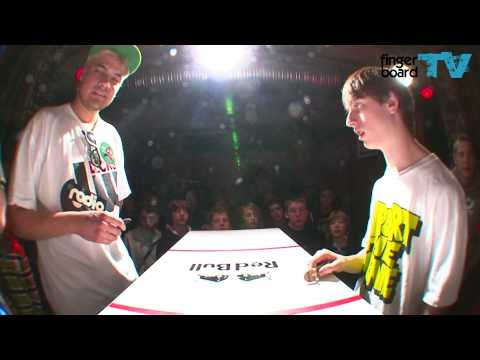 fingerboardTV - Battle At The Harrics - Mike Schneider vs. Daniele Comuzzi More Game Of Skates coming soon on fingerboardTV. Sorry for the crappy light and t...