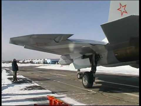 Russian Stealth Fighter Test Flight