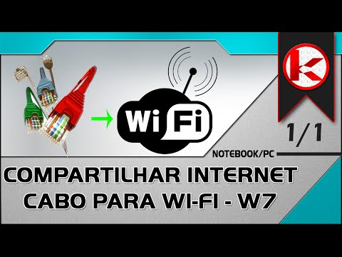 Compartilhar internet cabo para Wi Fi no windows 7
