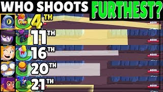 Brawl Stars OLYMPICS 2! | The RANGE Test! | Who SHOOTS Furthest?!