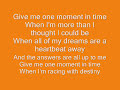 Whitney Houston- one moment in time lyrics