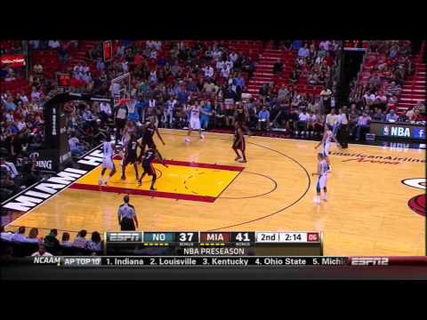 Heat vs. Hornets 10/27/2012 - Anthony Davis full highlights - 24pt/11reb