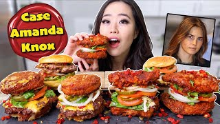 SECRET CHEESY FRIED CHICKEN BURGERS MUKBANG 먹방 | Eating Show