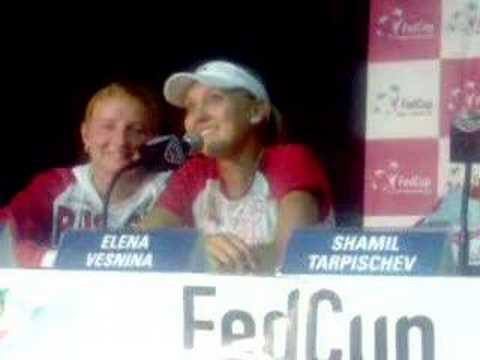 Elena Vesnina Fed Cup Press Conference Video