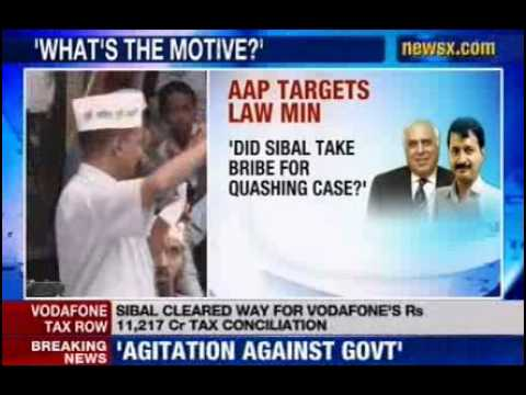 NewsX: Aam Aadmi Party targets Law minister Kapil Sibal