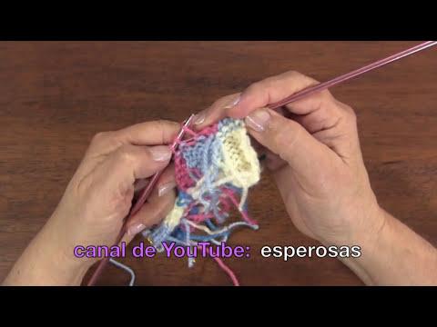 Chaqueta para niñas con cuadrados de colores tejida en dos agujas (Parte 1)