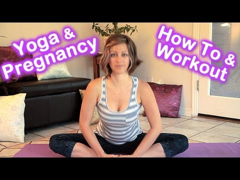 Pregnancy Yoga How To Workout & Stretches For Pregnant Women By Jen Hilman video