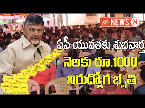 Andhra Pradesh govt to give RS 1000 Allowance to Unemployed Youth | Cm Chandrababu | YOYO NEWS24