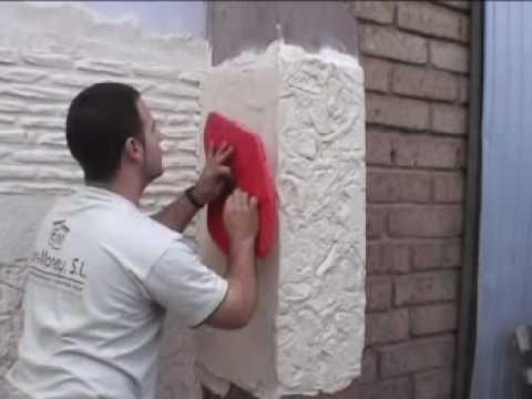 Имитация камня на стене своими руками из штукатурки 12