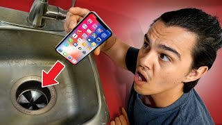 Will An iPhone X Survive A Garbage Disposal?!