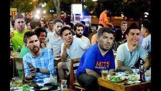 Cảnh Hài Hước Cầu Thủ Ronaldo ,messi, neymar nhậu quán vỉa hè khi kết thúc worldcup 2018